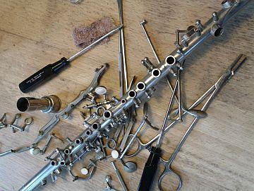 zerlegte Klarinette